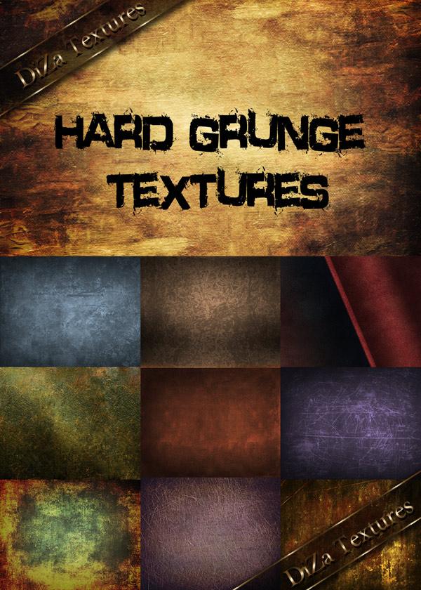 Hard grunge textures by DiZa-74