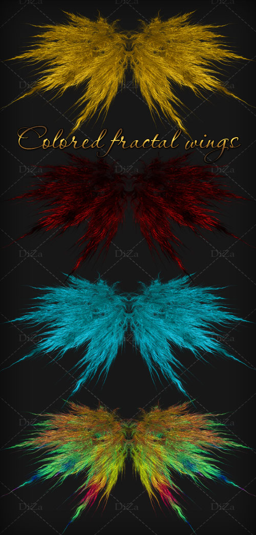 Colored fractal wings by DiZa-74
