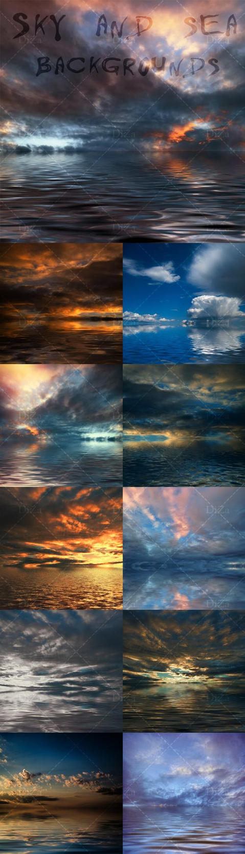 Sky and sea backgrounds by DiZa-74