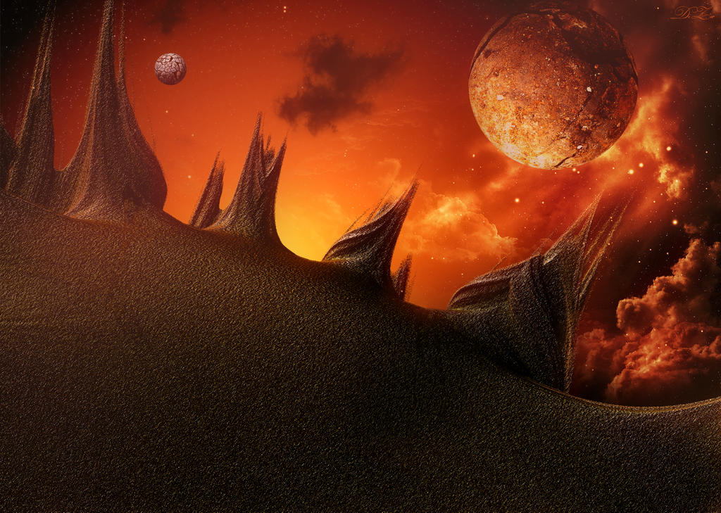 Sunrise on Mars by DiZa-74