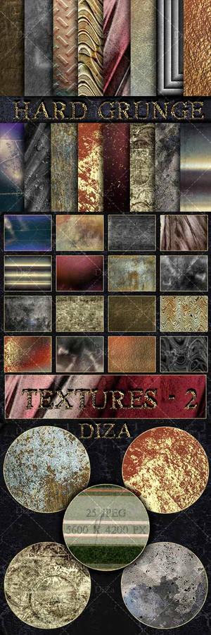 Hard grunge textures overlap - 2