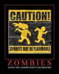 Zombies Demotivational Poster