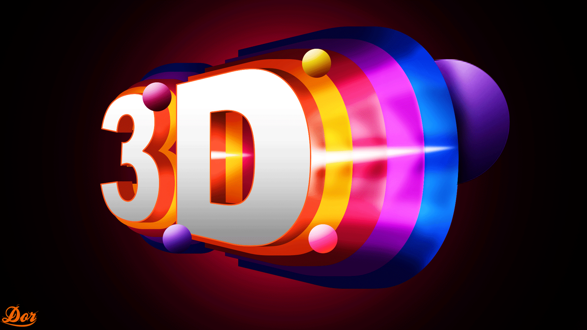 3d logo by dorgd on deviantart