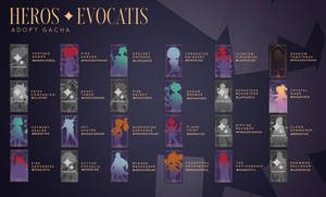 HEROS EVOCATIS | RPG ADOPT GACHA (13 adopts open)