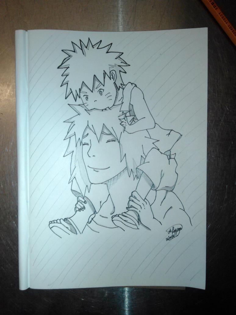 Baby Naruto and Minato by SashaKpp