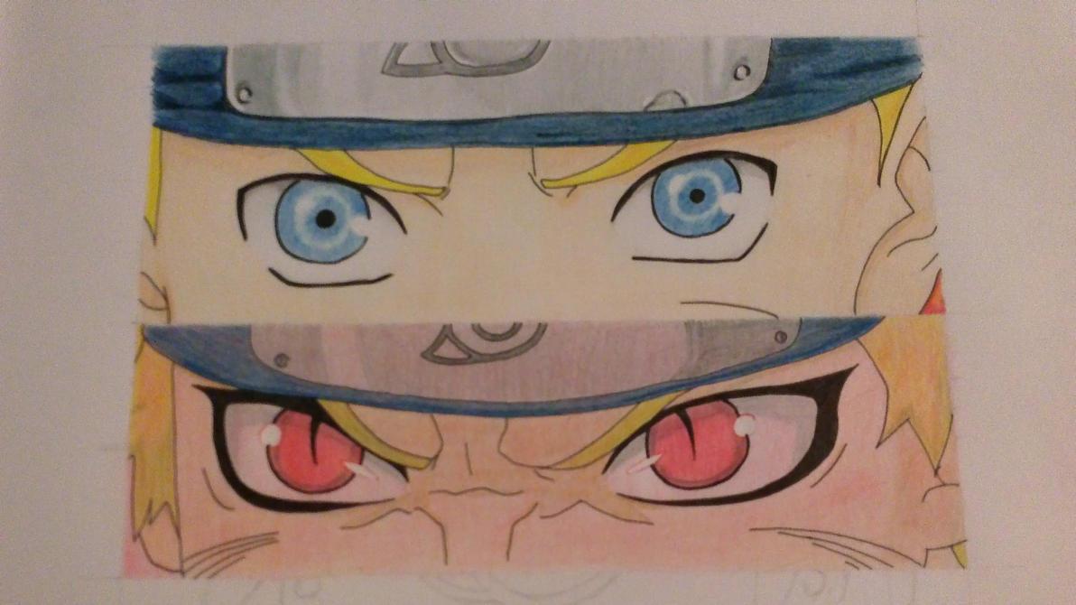 Naruto eyes progress 2 by SashaKpp