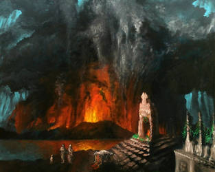 Eruption of Santorini 1600 BCE