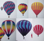 6 hot air balloons
