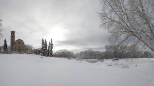 Snowy Winter Background by Archangelical-Stock