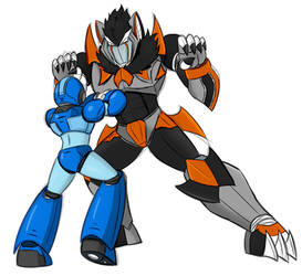 X vs Maverick beast (sketch) by Dynamo07X