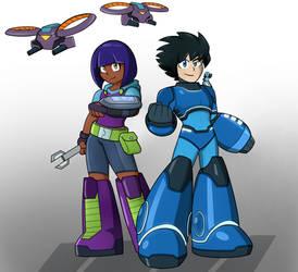 Suna and Aki (redesign) by Dynamo07X