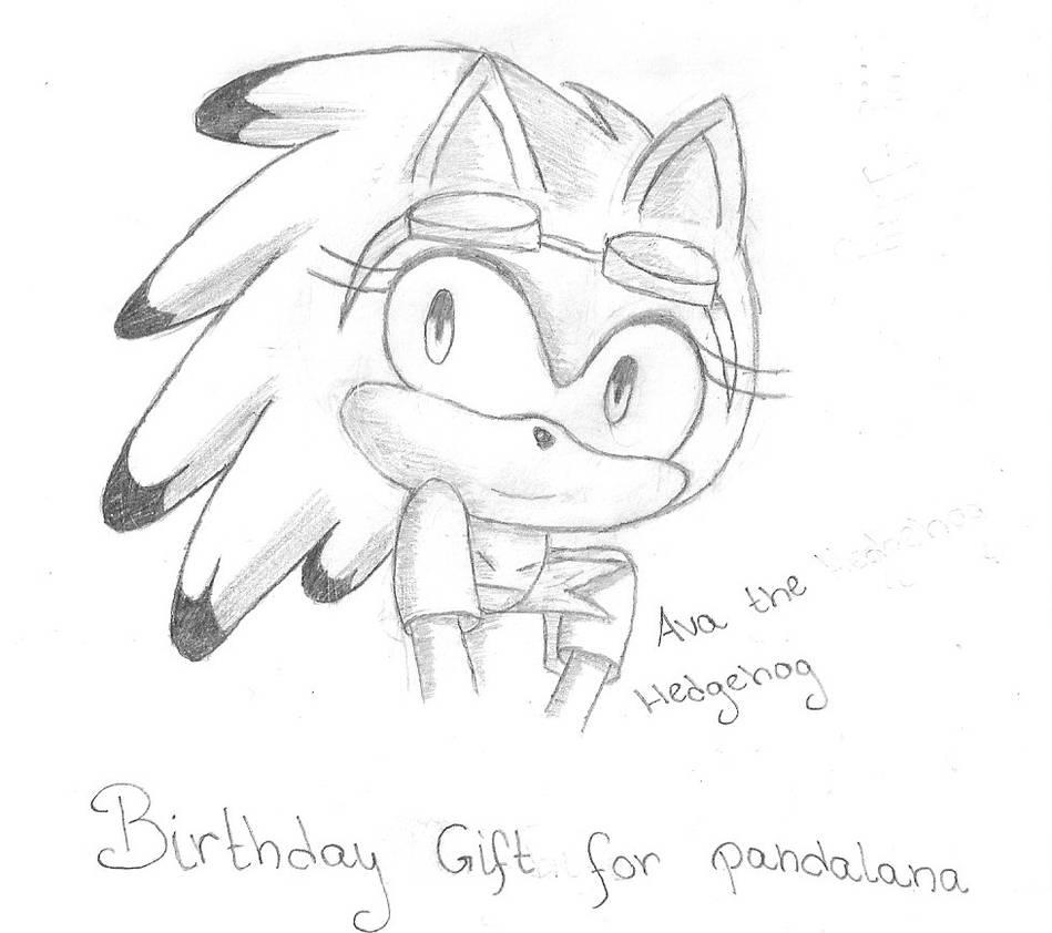 .:B-Day Gift:.| Half Body Sketch 002: Ava Hedgehog