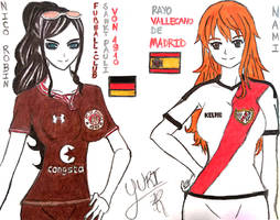 Nami and Nico Robin - St. Pauli and Rayo Vallecano