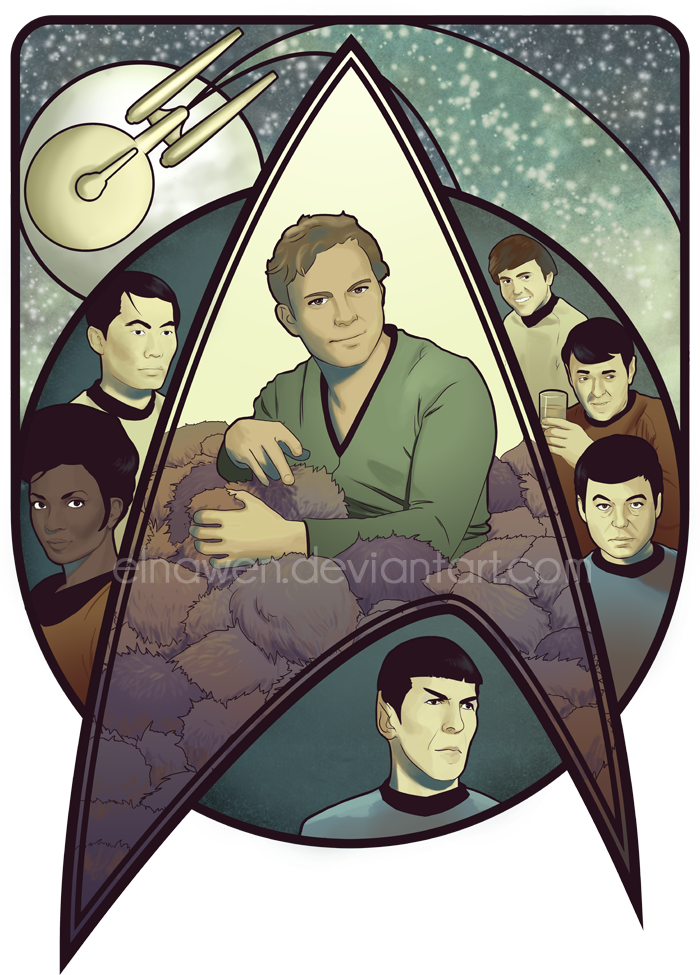 Star Trek Art Nouveau by Elnawen