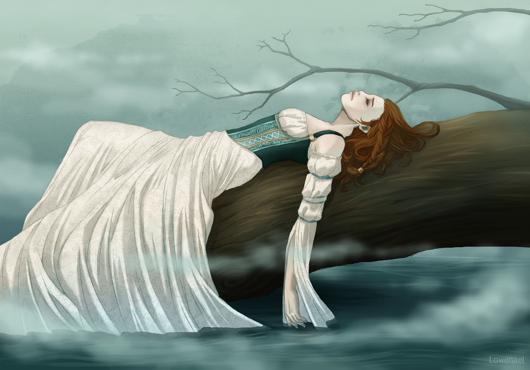 The Lady of Shalott - The lake by Lowenael