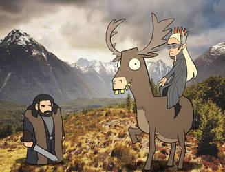 Look at my elk by Lowenael