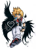 Roxas Kingdom Hearts 2 by Lowenael