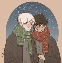 Winter Drarry by midgaardian