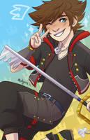 Sora - Kingdom Hearts 3 by midgaardian