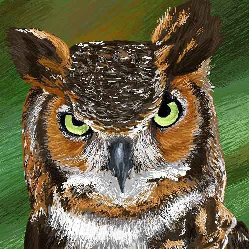 Owl by cherrybubblegum