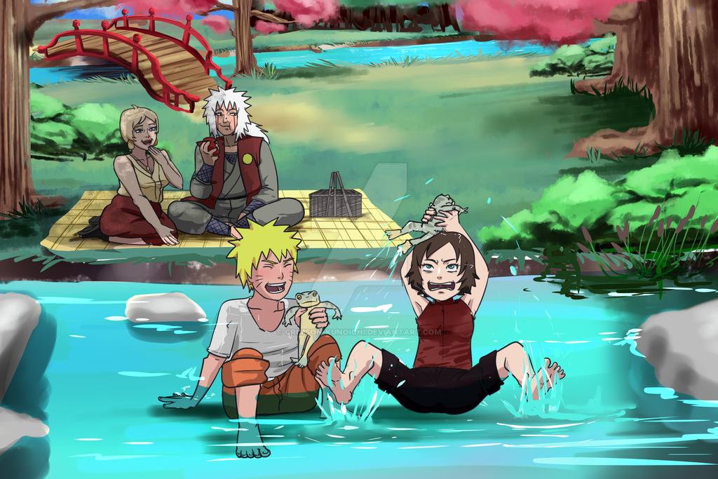 Naruto -  By The Creek by Crimson-Kunoichi
