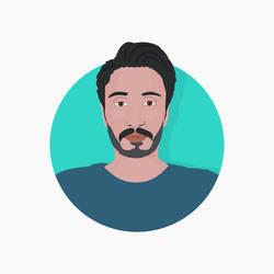 vectoral portrait of a man by xxqasimxx