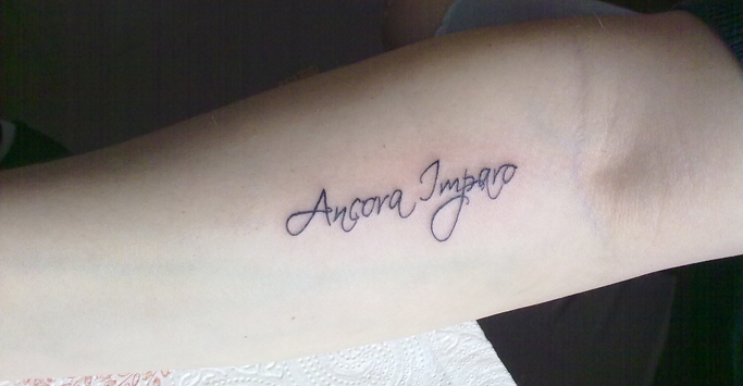 ancora imparo tattoo by klosmagda on deviantart