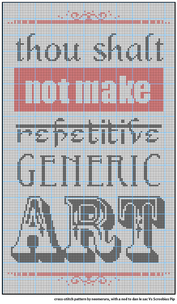 Thou Shalt Not xstitch pattern by neomeruru