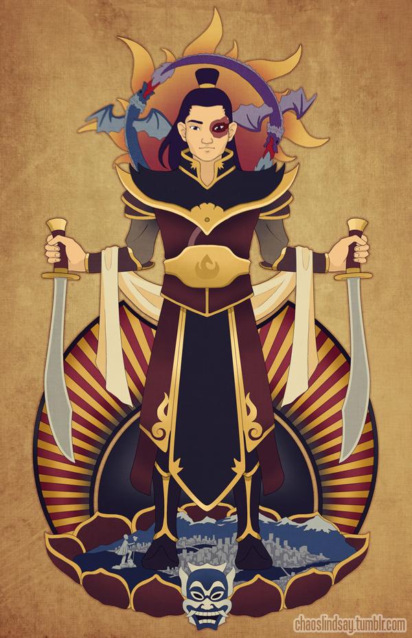 Firelord Zuko Portrait by neomeruru