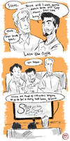 Movie night with Tony by IncenteFalconer