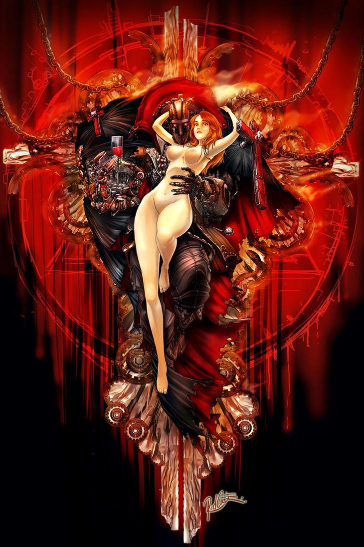 Robot vampire by redcode77