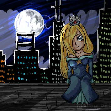 Rosa at night~ by Xeccan