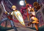 Jaune Arc and Pyrrha Nikos