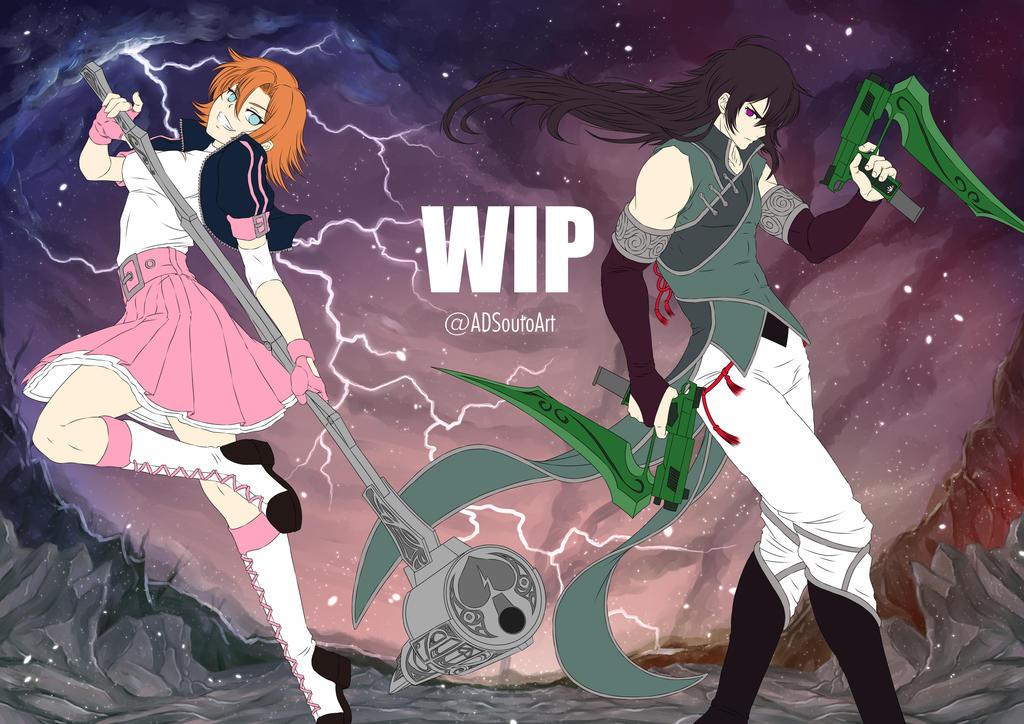 WIP Nora X Ren BG by ADSouto