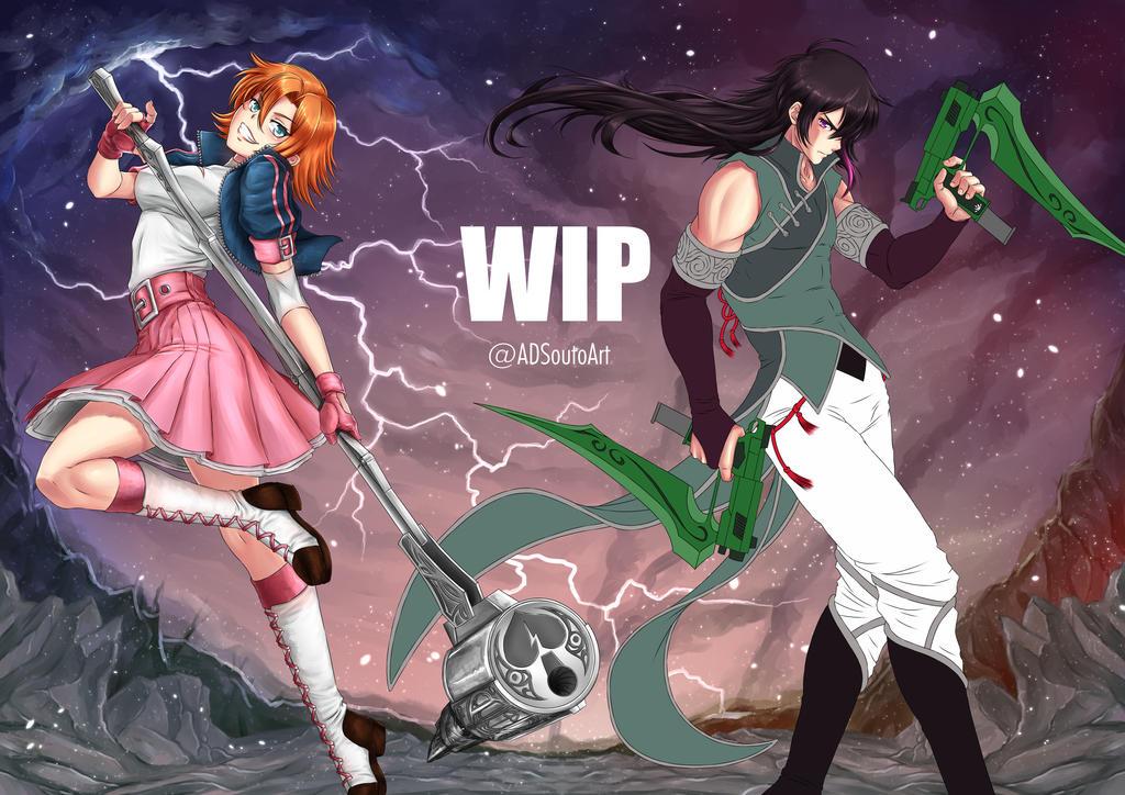 WIP Nora x Ren by ADSouto