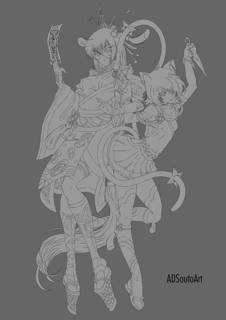 Haruna and Aki by ADSouto