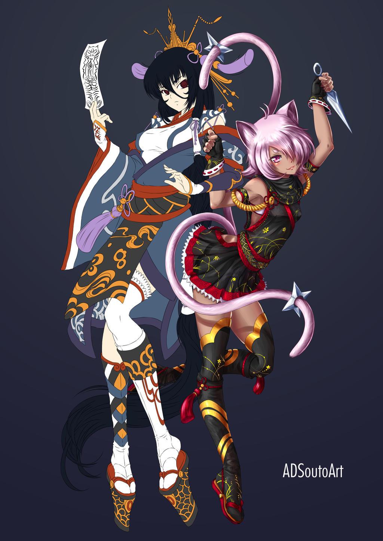 WIP Haruna and Aki by ADSouto