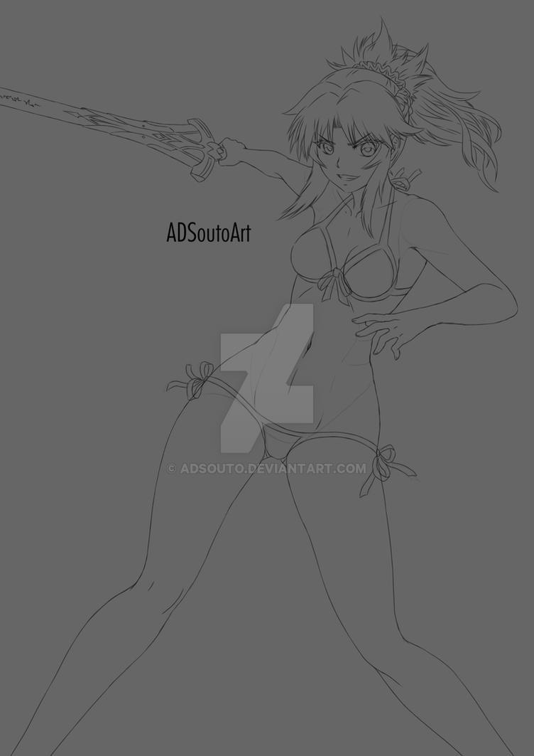 Mordred - bikini by ADSouto