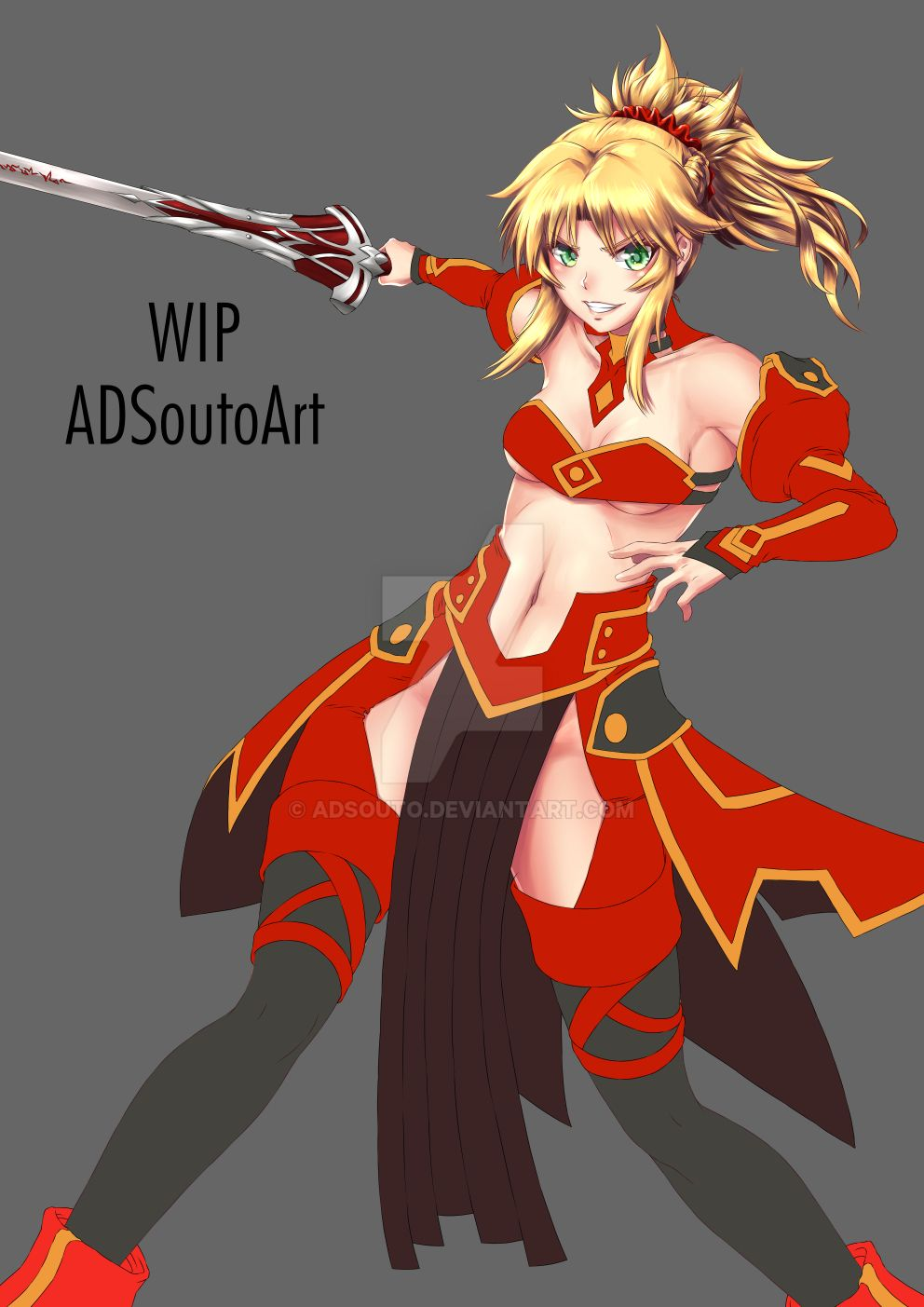 WIP Mordred Pendragon Clothes ver. by ADSouto