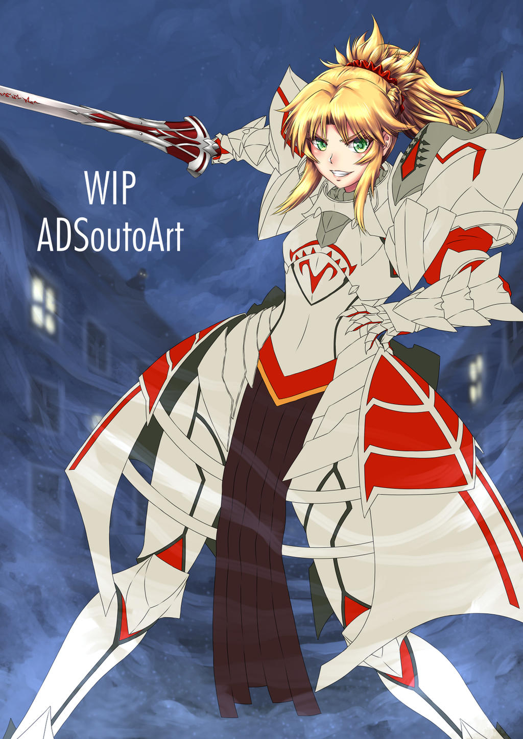 WIP Mordred Armor Armor Ver. by ADSouto