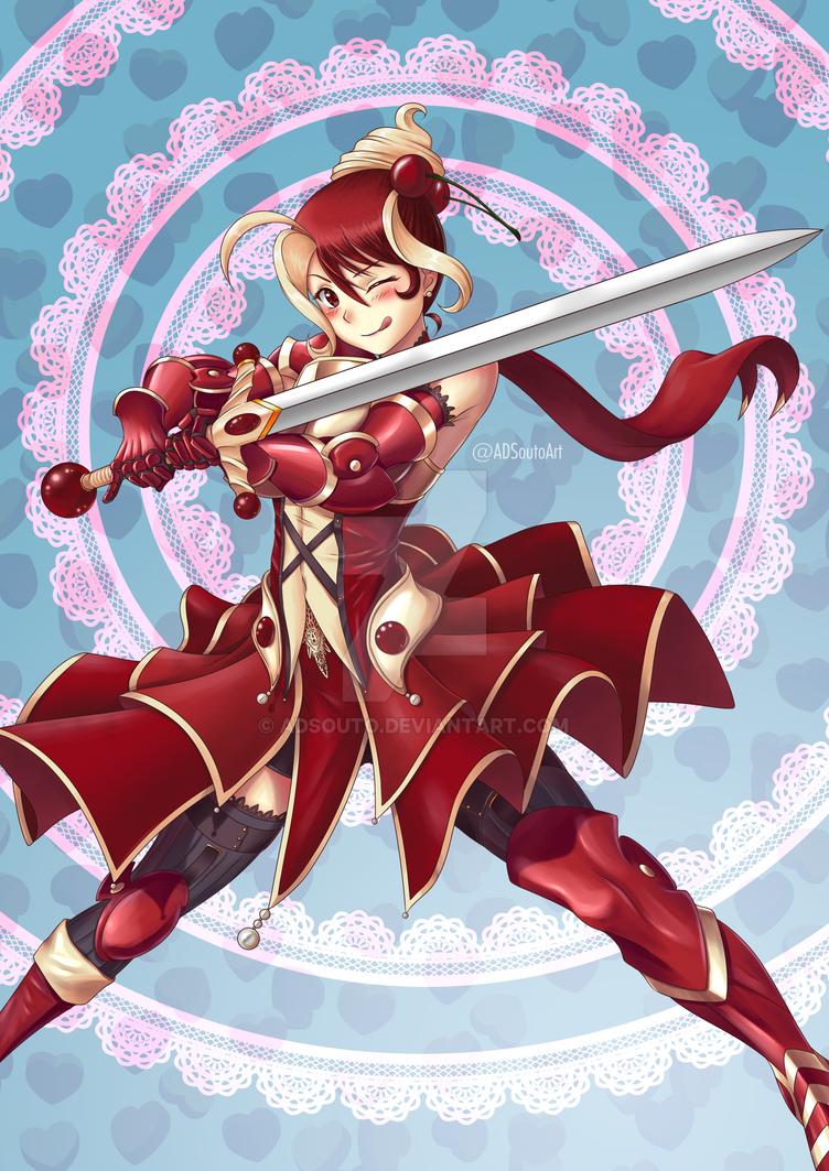 Akane the Red Velvet Cake Knight by ADSouto