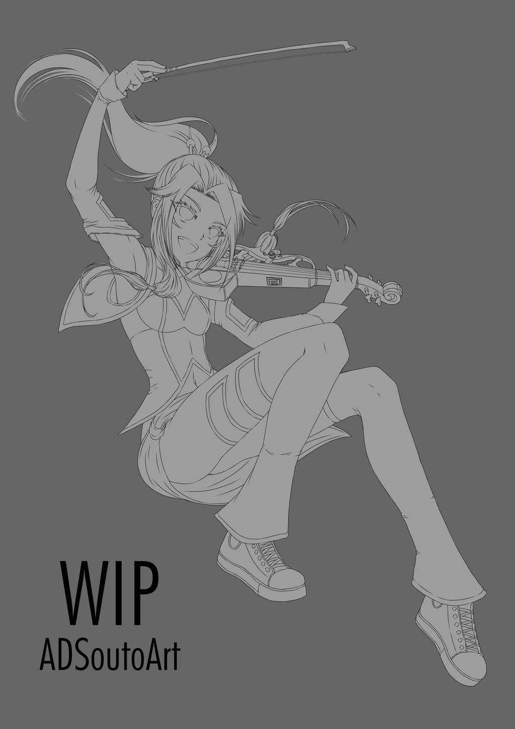 WIP Mana Drawn by ADSouto