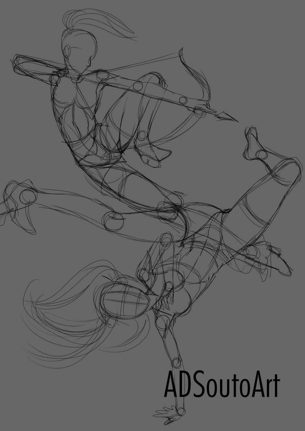 WIP: Myra And Roll by ADSouto