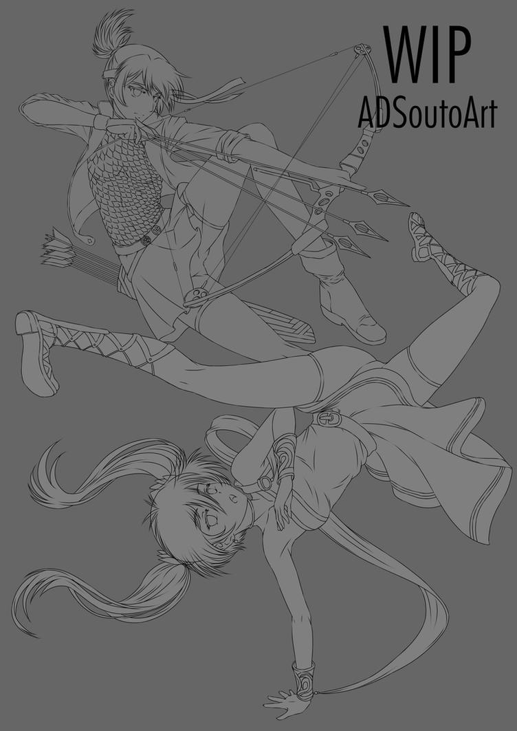 WIP: Roll and Myra by ADSouto