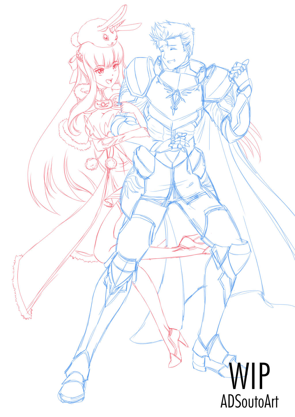 WIP Ophelia And Jacques by ADSouto
