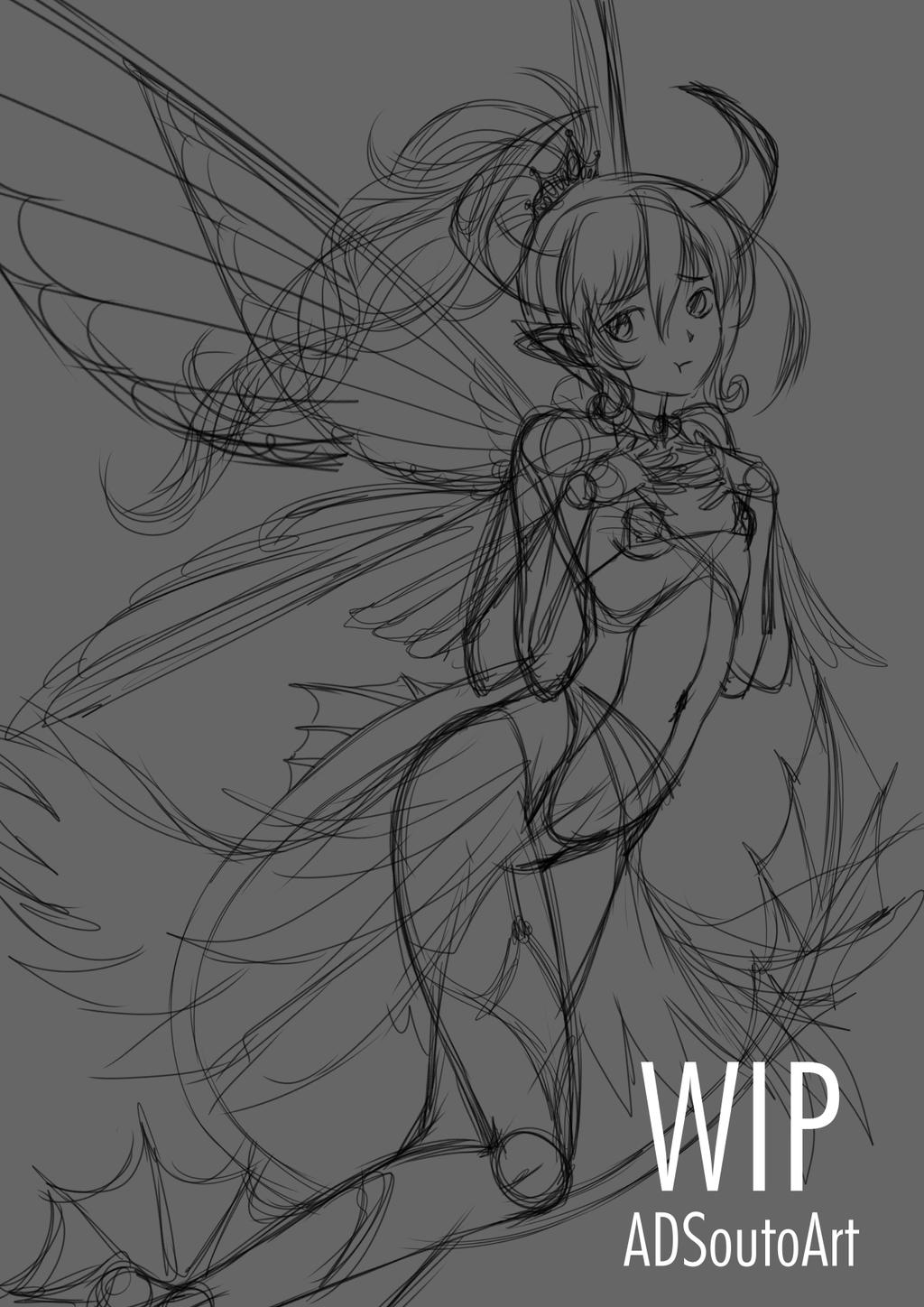 WIP Leviathan Empress of Envy by ADSouto