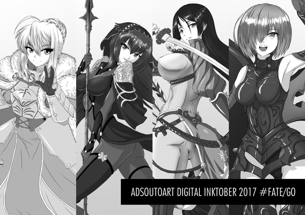 Digital Inktober 2017 by ADSouto
