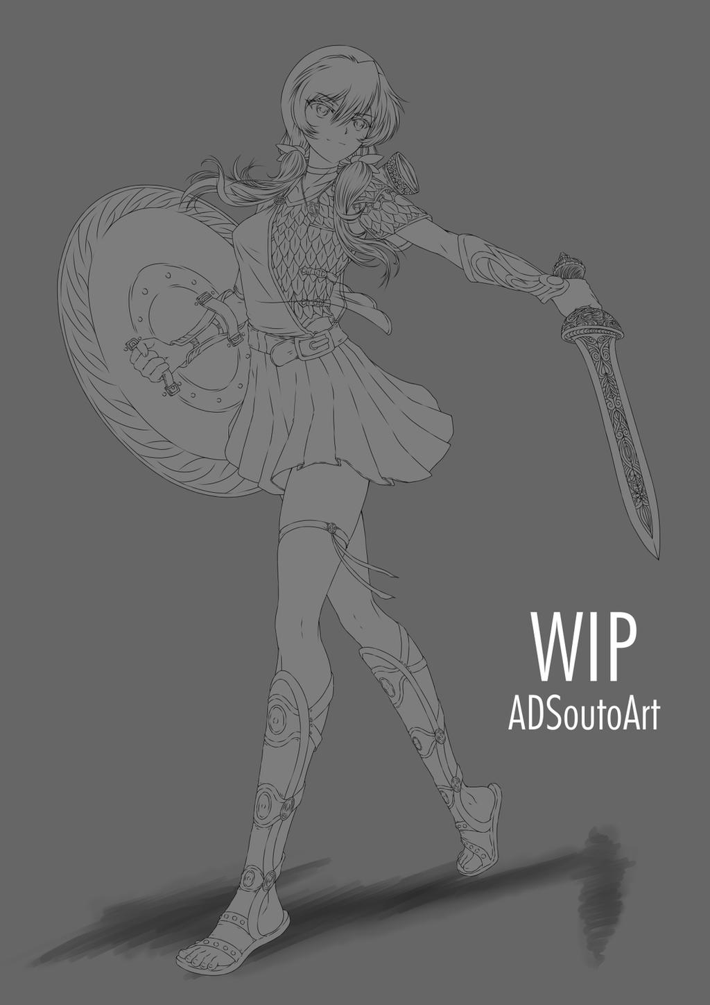 WIP - Myra Hawk, commission slot 3 by ADSouto