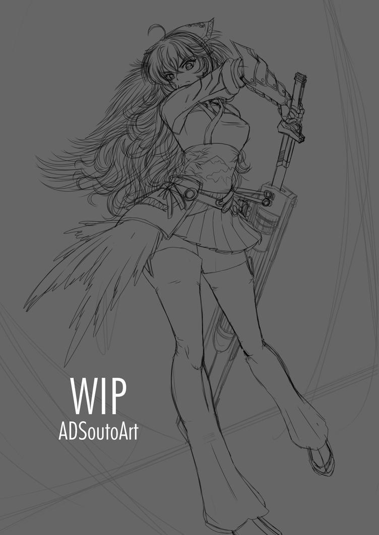 WIP - Raven Branwen Spring Maiden by ADSouto