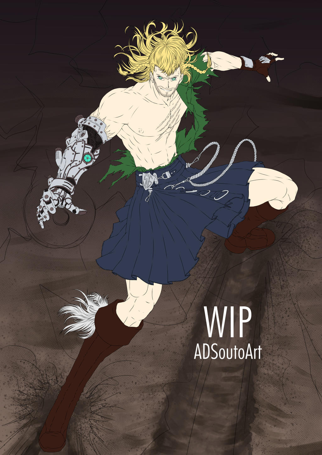WIP - Rafael Forrester Sacred Guard by ADSouto